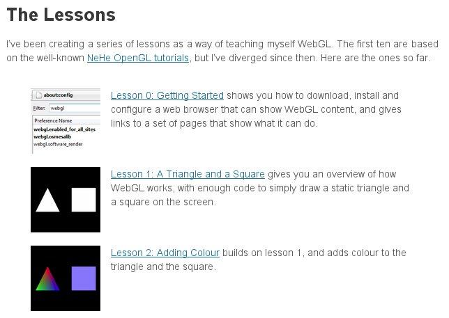 WebGL Presentation